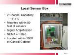 local sensor box