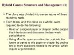 hybrid course structure and management 1