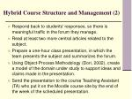 hybrid course structure and management 2
