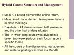 hybrid course structure and management