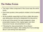 the online forum