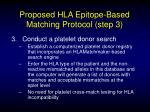 proposed hla epitope based matching protocol step 3