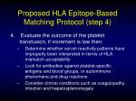 proposed hla epitope based matching protocol step 4