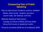 conquering fear of public speaking