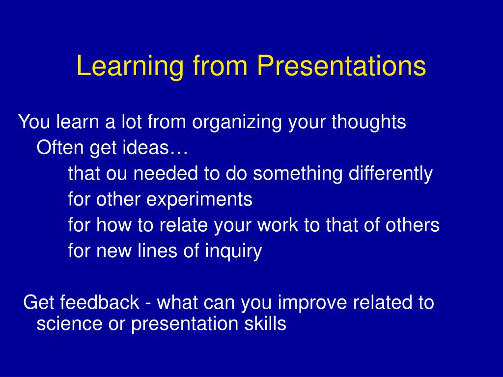 Learning from Presentations