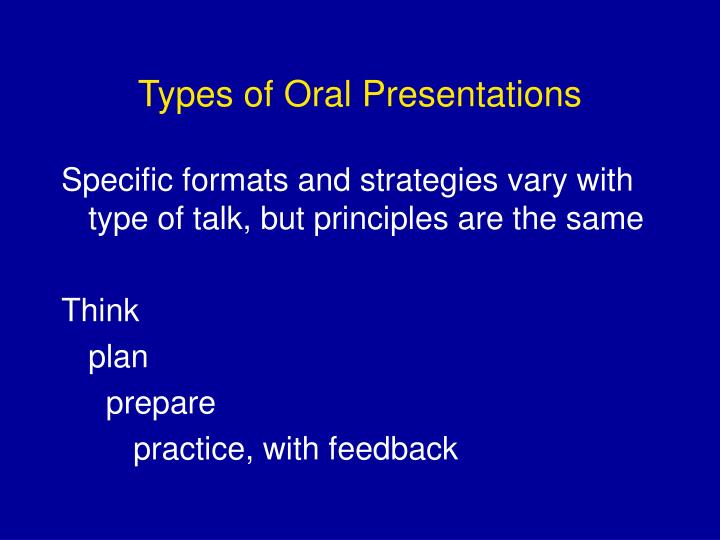 Types of oral presentations3
