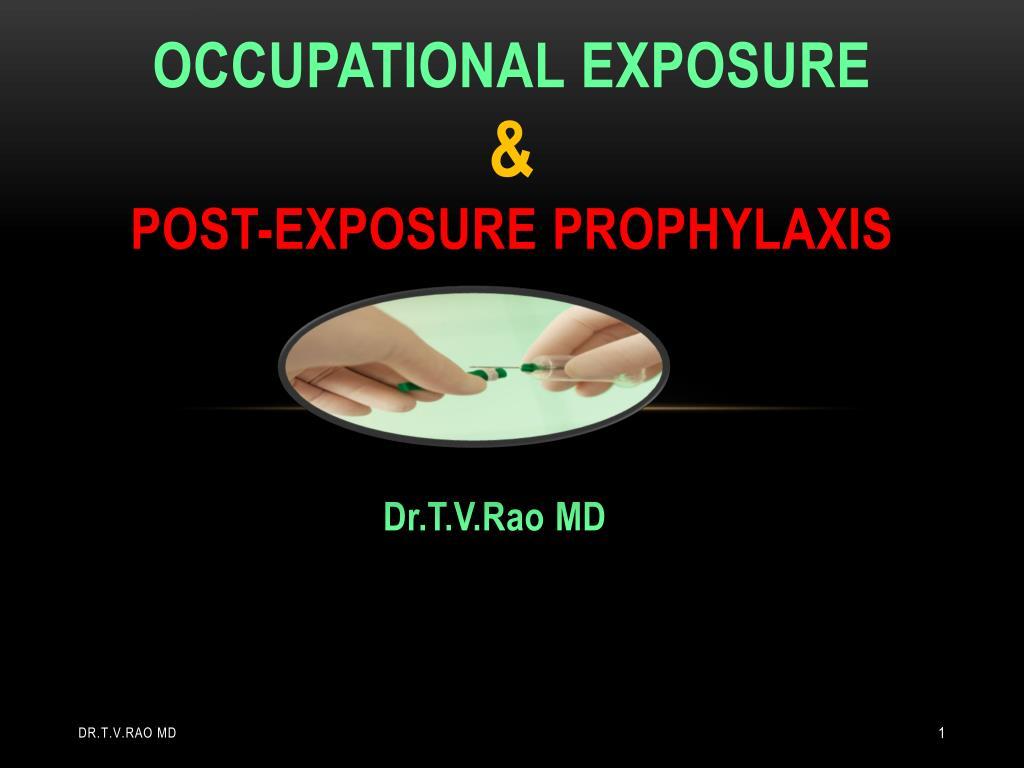 occupational exposure post exposure prophylaxis l.