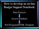 how to develop an on line budget support notebook