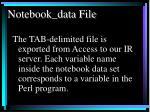 notebook data file