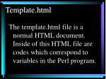 template html