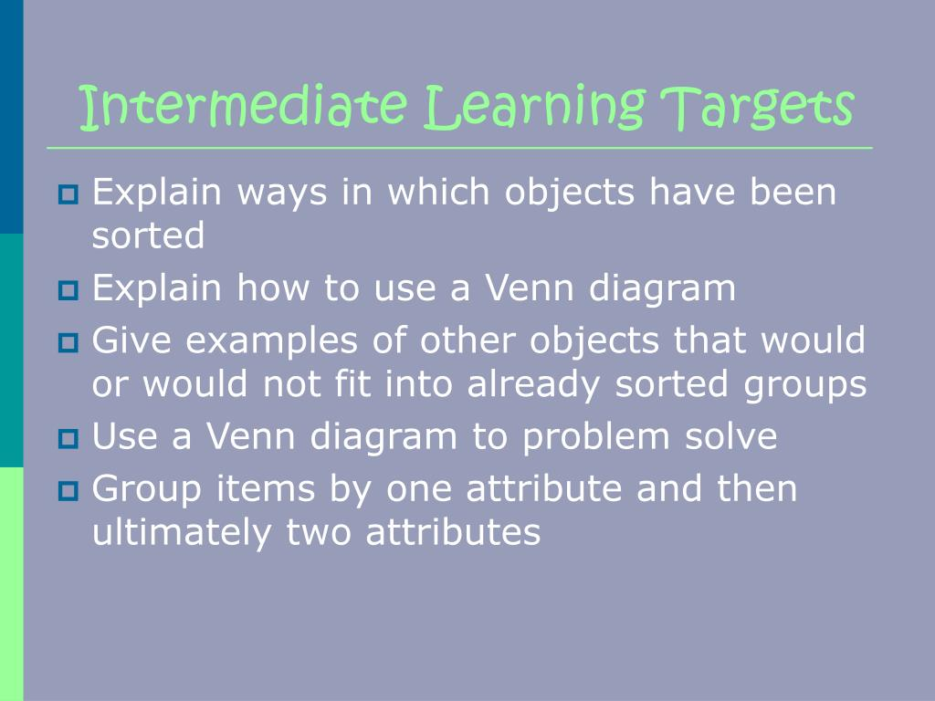 Intermediate Learning Targets