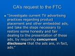 ca s request to the ftc