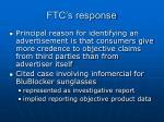 ftc s response