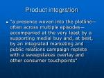 product integration