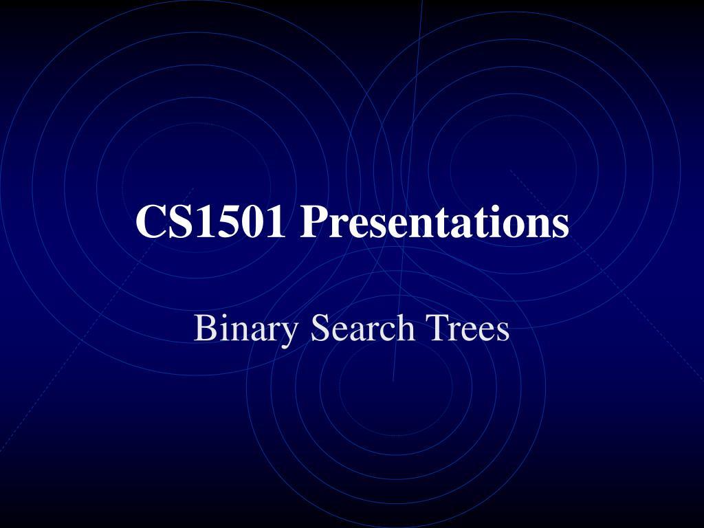 cs1501 presentations l.