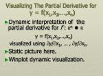 visualizing the partial derivative for y f x 1 x 2 x n