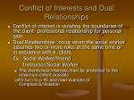 conflict of interests and dual relationships