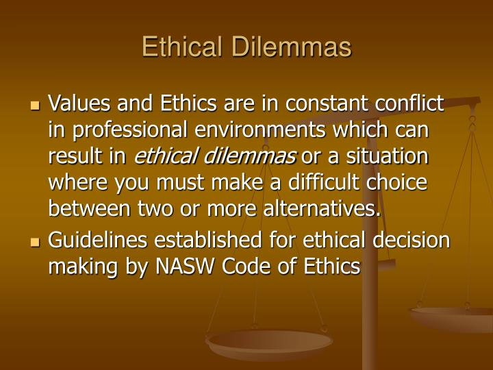 social work ethics essay Nearly 55 years ago the national association of social workers (nasw) adopted the code of ethics for every social worker to follow and uphold since that time society and the world has changed, as well as the social work profession however, the code of ethics have held strong and served as the guiding light illuminating the path for each.
