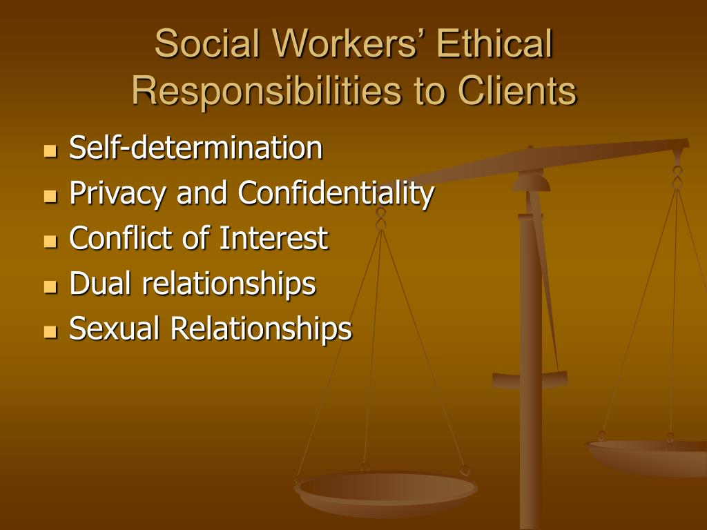 household workers ethical responsibilities to clients