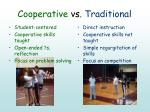 cooperative vs traditional
