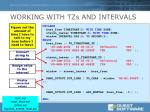 working with tzs and intervals