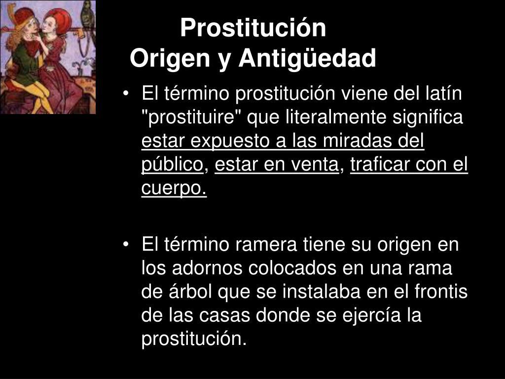 prostituci n origen y antig edad l.