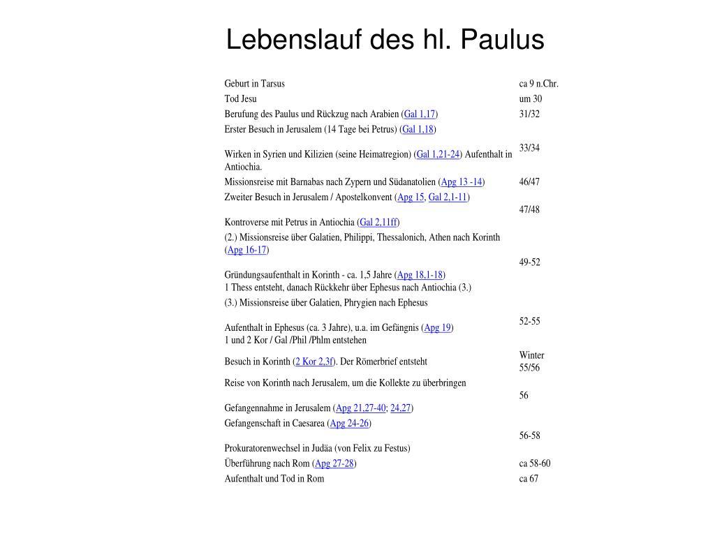 Apostel Paulus Paulus Von Tarsus Prezentaciya Onlajn 9