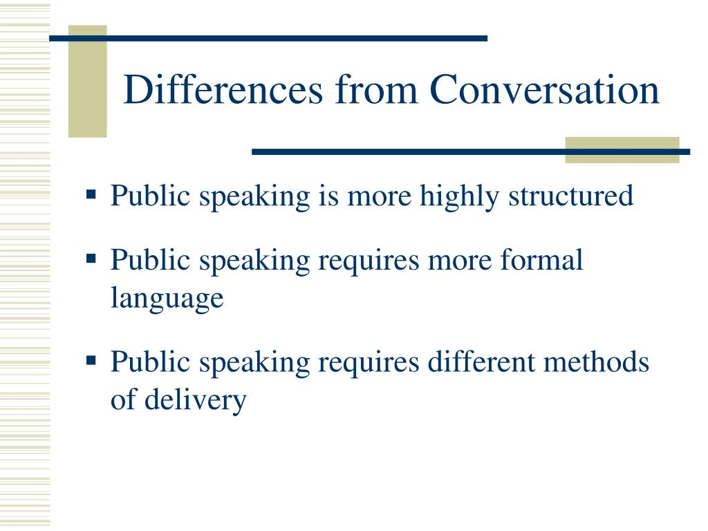 Differences from Conversation