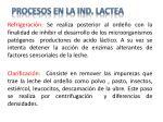 procesos en la ind lactea