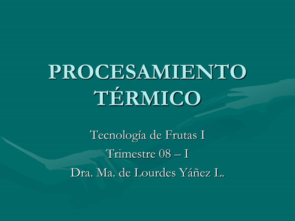 procesamiento t rmico l.