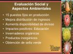 evaluaci n social y aspectos ambientales
