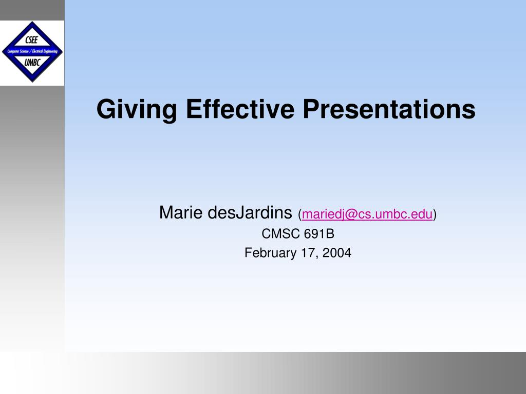 giving effective presentations l.