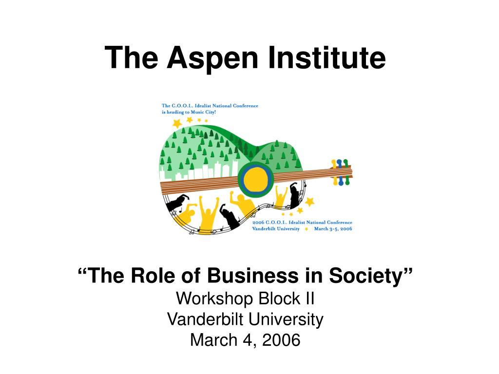 the aspen institute l.