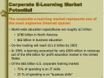 corporate e learning market potential
