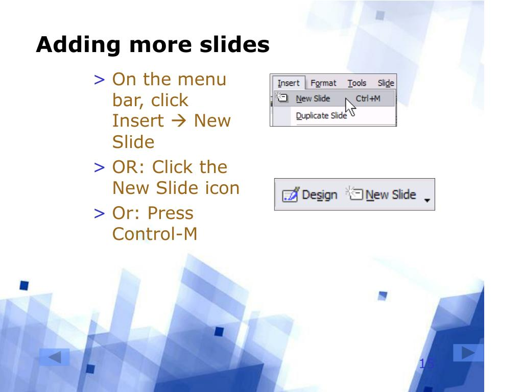 Adding more slides