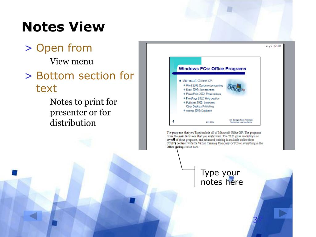 Notes View