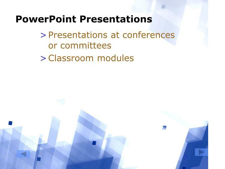 Powerpoint presentations3
