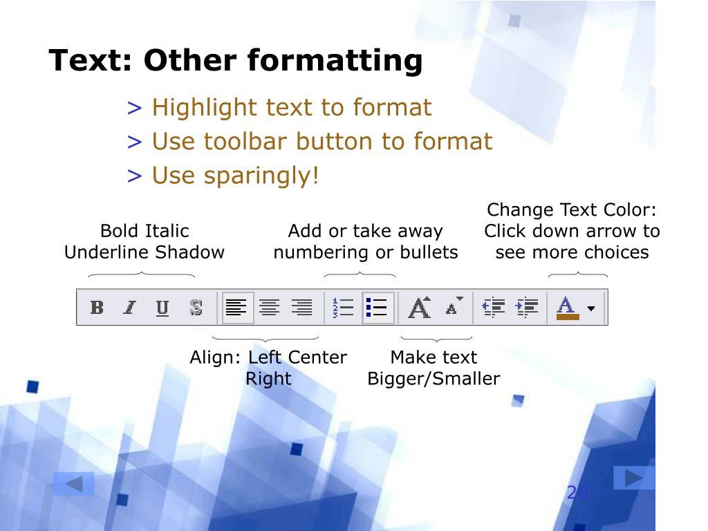 Change Text Color:
