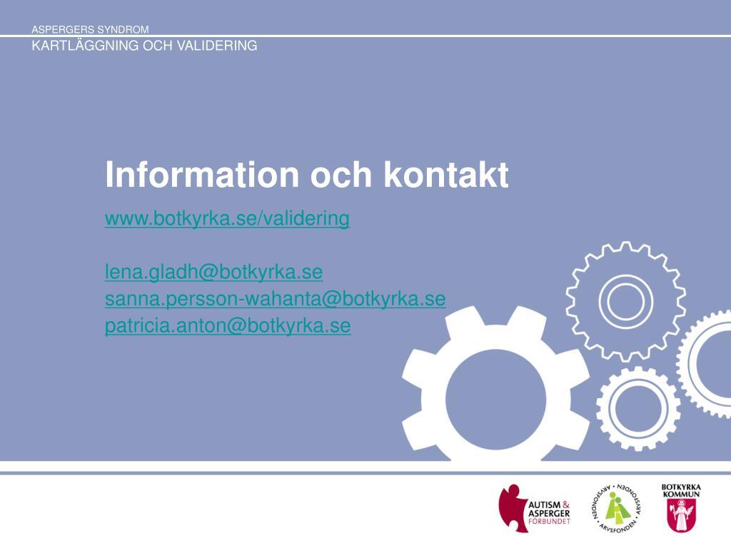Information och kontakt