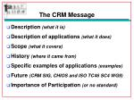 the crm message