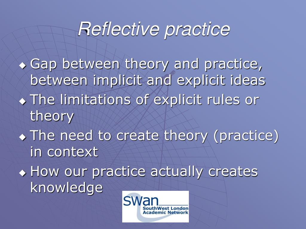 the 'gap' between theory and practice Bridging the gap between theory and practice: a supervision programme for nursing that reflection was a way to bridge the gap between theory and practice.