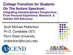 scott michael robertson ph d candidate ist penn state university srobertson@ist psu edu