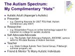 the autism spectrum my complimentary hats