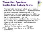 the autism spectrum quotes from autistic teens