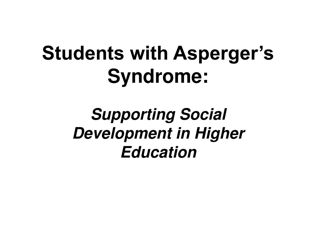 students with asperger s syndrome l.