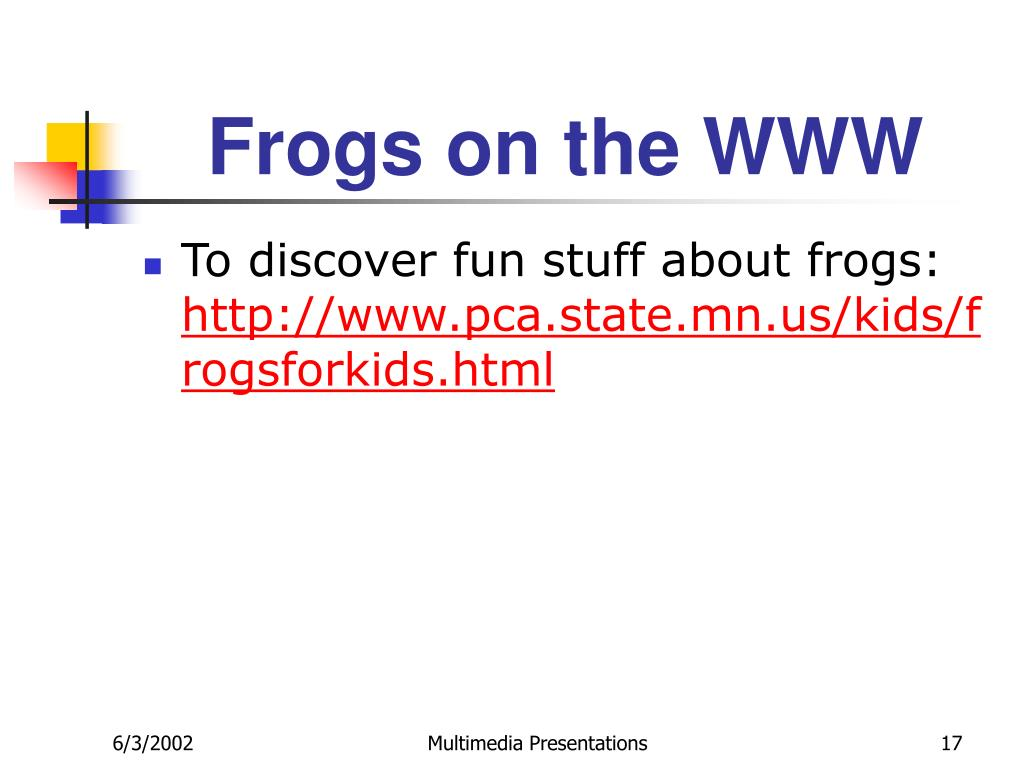 Frogs on the WWW