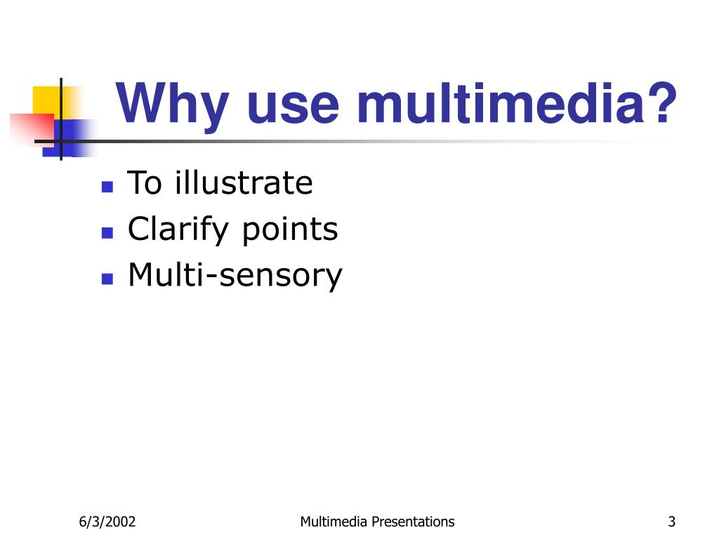 Why use multimedia?