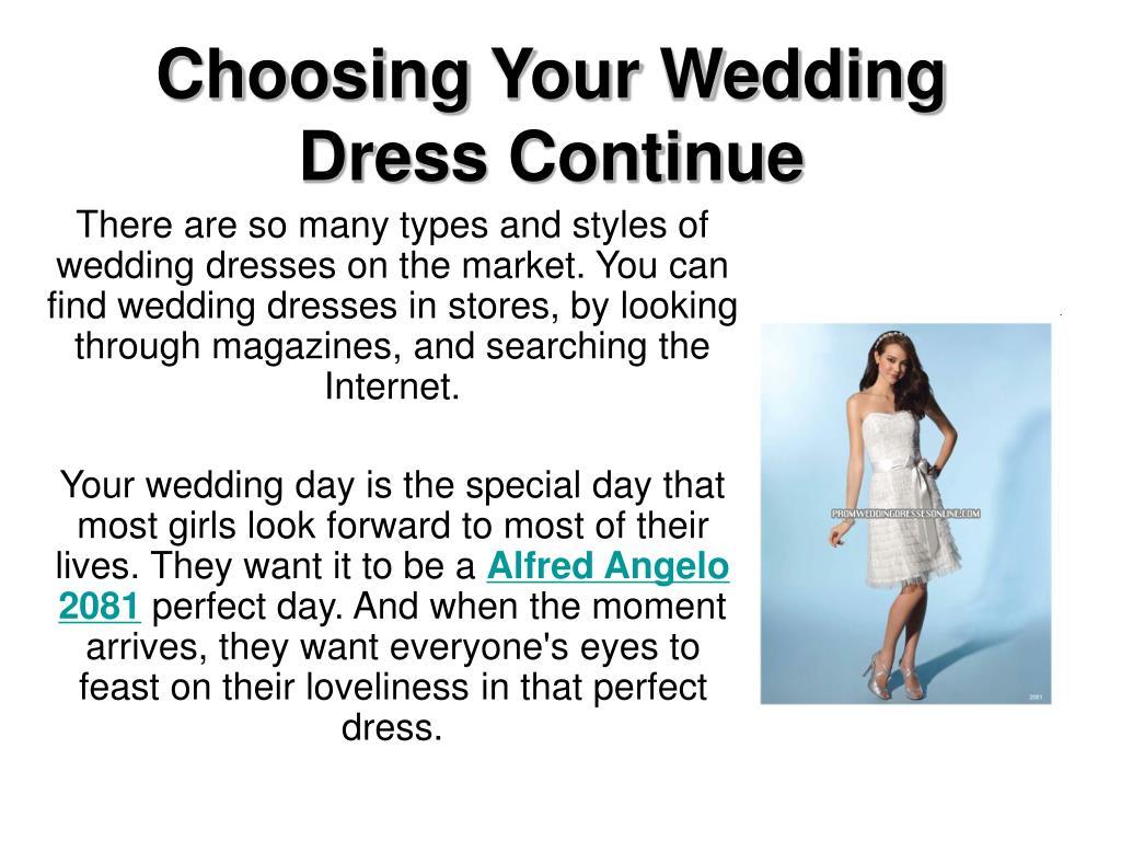 choosing your wedding dress continue l.