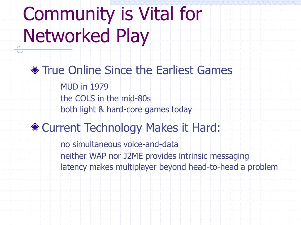 Community is Vital for Networked Play