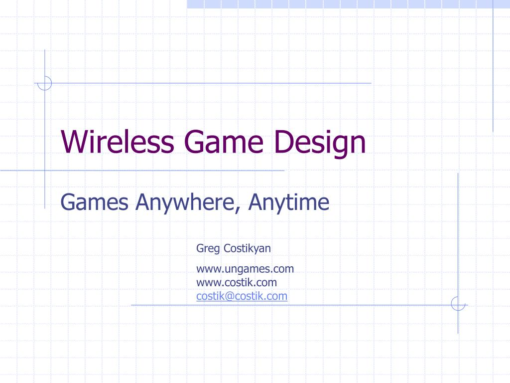 Wireless Game Design
